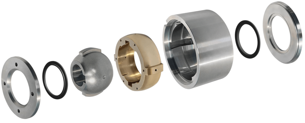 Exploded view of a Punk® Prime 5° Sealed Coupling